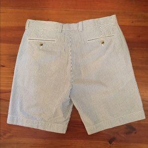Alan Flusser Shorts - Men's Bermuda Shorts 'Seersucker' Sz 34